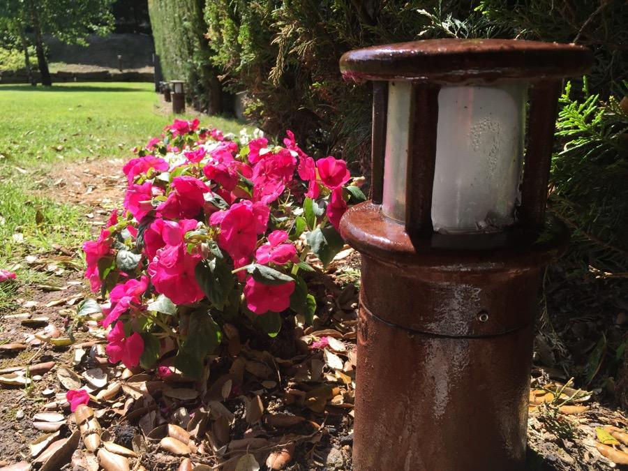 Balizas para jard n xido lacado 30cm for Balizas jardin
