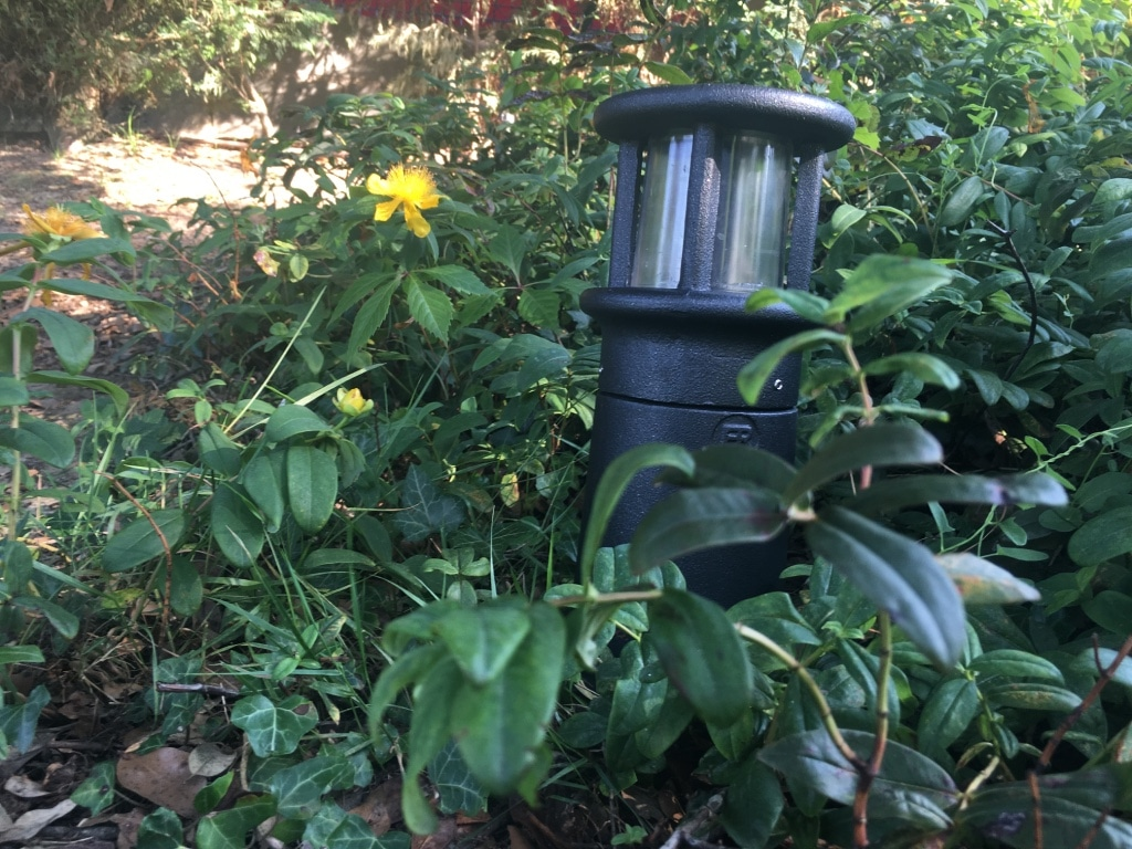 Balizas jard n bfr 3n negro forjado 30cm for Balizas jardin